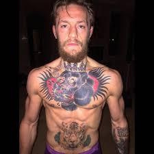 Conor Mcgregor Chest Tattoo Is Badass Tattoo Ideas Conor