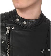 leather jackets allsaints men allsaints jasper leather biker jacket black d146w