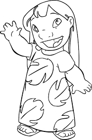 Lilo And Stitch Coloring Pages Printable Lilo And Stitch Coloring