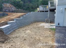 retaining wall replacement from wood to