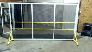 single garage door screen double