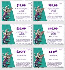 Chuck E Cheese Printable Chart Chuck E Cheese Coupons The Typical Mom