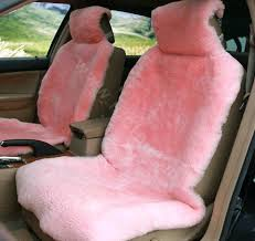 pink fuzzy seat covers real sheepskin car seat cover sheep wool auto cushion sets pink pink