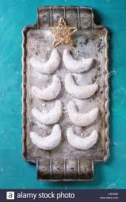 Hausgemachte Weihnachten Muttern Cookies Halbmond Mit