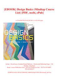 Design Basics By David Lauer And Stephen Pentak Ebook Design Basics Mindtap Course List Pdf Mobi Epub