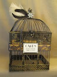 art deco wedding card box bird cage bling feathers lace birdcage wedding art deco box office loew