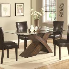 glass top dining tables with wood base best classic elegant solid wood base rectangular glass top