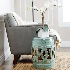 abbyson living moroccan teal ceramic garden stool ping great deals on abbyson