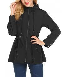 geesenss womens lightweight waterproof raincoat