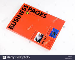 Business Phone Book Business Pages Phone Directory Stock Photo 11891822 Alamy