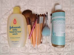 makeup brushes you do not need to purchase expensive brush cleaners baby shoo dr bronner 39