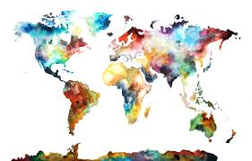 items similar to multiple sizes watercolor map print world map watercolor world painting on