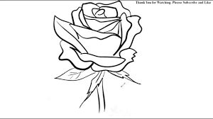 Small Picture How to Draw a Rose Flower Easy Line Drawing Sketch YouTube