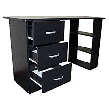home office table desk. redstone black computer desk 3 drawers shelves home office table workstation i