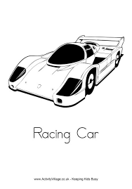 Small Picture Racing Car Colouring Page
