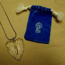details about waterford crystal heart pendant signed with sterling silver chain