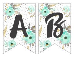 Printable Letter For Banners Free Printable Floral Letter Banners Made With Seed Paper