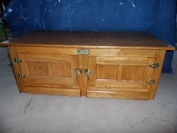 vintage oak white clad ice box coffee table