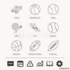 Baseball Signals Chart Sport Fitness Tennis And Basketball Icons Baseball Skis