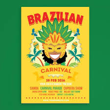 Free Carnival Poster Template Brazilian Carnival Poster Flyer Template For Free Download