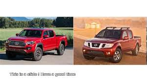 nissan frontier vs toyota tacoma - YouTube