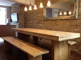 Reclaimed Oak Dining Table Farm Tables With Benches Barnwood Farm Table Benches Swings