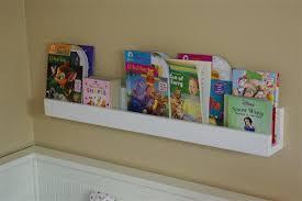 the finished wall mounted photo shelf
