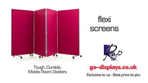 office partition dividers. Flexi Screen Mobile Partition System - Temporary Office Partitions Go Displays YouTube Dividers