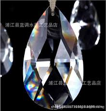 glass crystal chandelier prisms ceiling lamp teardrop pendants bead curtain accessories wedding decorate kind of size glass crystal chandelier decorate