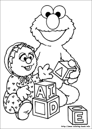 Small Picture Sesame Street Coloring Pages On Coloring Book Info Coloring
