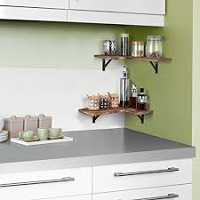 olakee corner wall shelves rustic wood