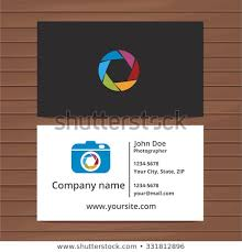 Photographer Business Card Template Two Sided Stock Vector Royalty
