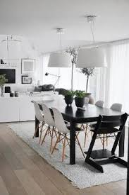 black and white dining room by mice