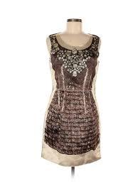 Details About D G Dolce Gabbana Women Brown Cocktail Dress 42 Italian