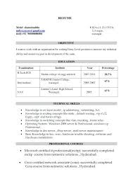 Format Of Resume For Fresher – Saturnevent