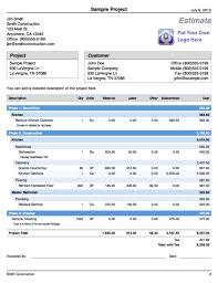 Estimate Format For Construction In India La Portalen Document