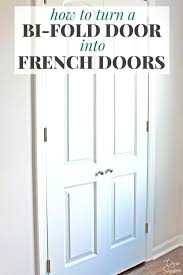 turn your bi fold door into french doors with this easy tutorial it shows diy install french diy doors