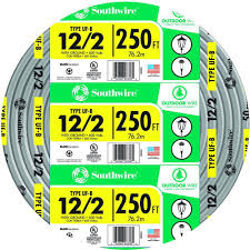 Southwire 250 Ft 12 2 Landscape Lighting Cable Southwire 250 Ft 12 2 Gray Solid Cu Uf B W G Wire