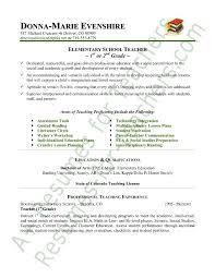 Education Resumes Examples Interesting Teacher Sample Resume New Elementary Education Resume Examples
