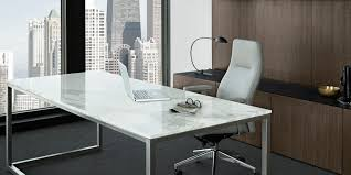 white modern office desk. Modern Office Meeting Room Design With Long White Tone Desk Silver Polished Steel Based Rectangle Marble