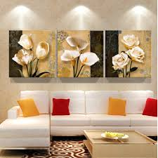 Paintings For Living Room Walls Compare Prices On Flower Wall Paintings Online Shopping Buy Low
