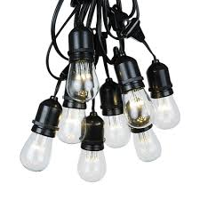lighting sets. Picture Of 25 LED S14 Warm White Commercial Grade Suspended Light String Set On 37.5\u0027 Lighting Sets T
