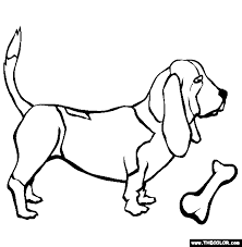 Small Picture Basset Hound Coloring Page Free Basset Hound Online Coloring
