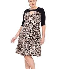 Kiyonna Dress Size Chart Kiyonna Animal Print Wrap Dress Usa Work Or Date