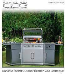 bahama stainless steel luxury garden kitchen barbecue