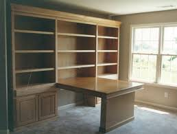 bookcase and desk built in