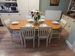 diy shabby chic dining table and chairs. shabby chic ducal pine extending dining table chairs kitchen diy: full size diy and
