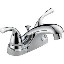 delta foundations chrome 2 handle 4 in centerset bathroom sink faucet