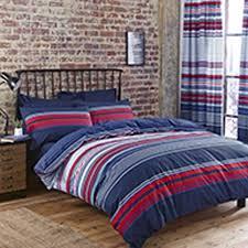 stunning reversible striped duvet cover set
