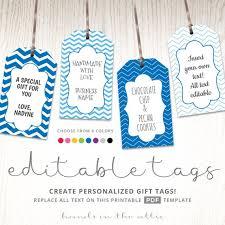 Hang Tag Template Stunning Editable Gift Tags Gift Tag Template Text Editable Chevron Etsy